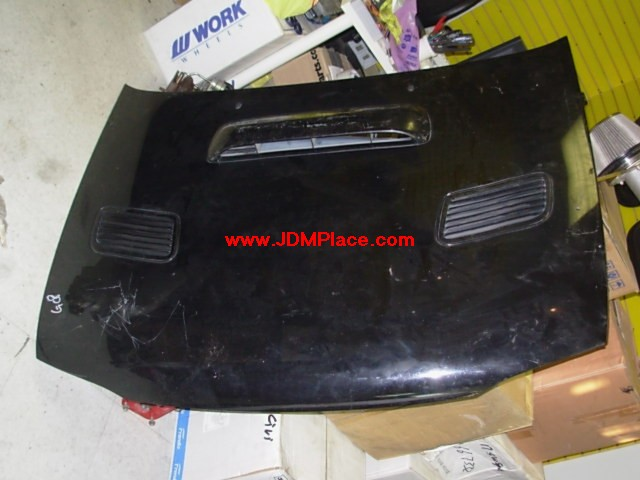 BD270010 - JDM GC8 STI Impreza Version 2 aluminum hood with scoop and vents. Fits 93-01 Impreza.
